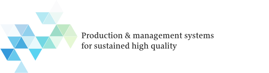 Production & management systems for sustained high quality